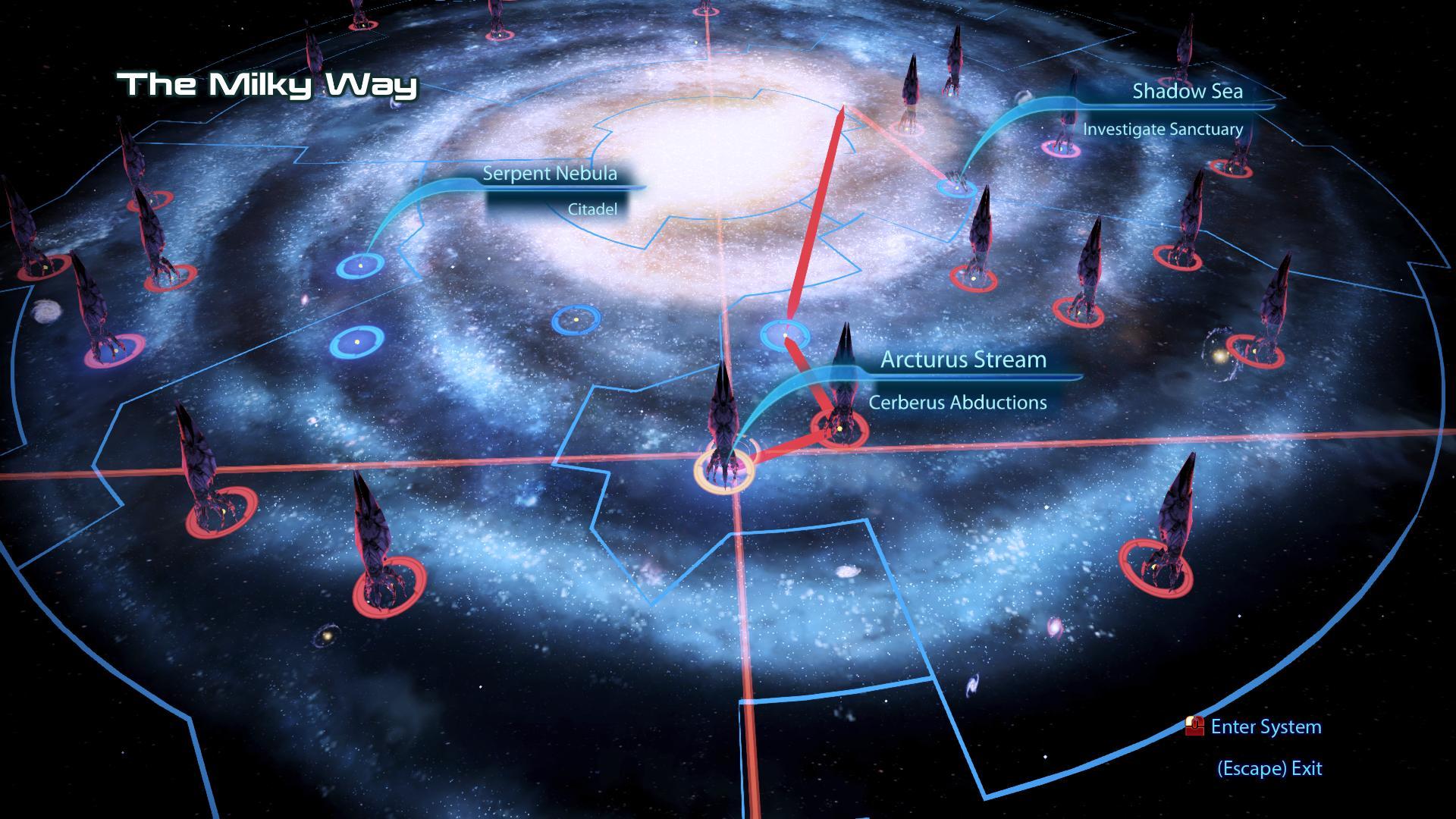 Mass Effect 3 Galaxy at War Assets in the Galaxy Map
